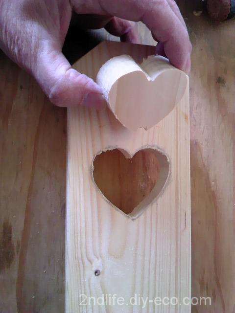 木板をハート形にくり抜く方法
