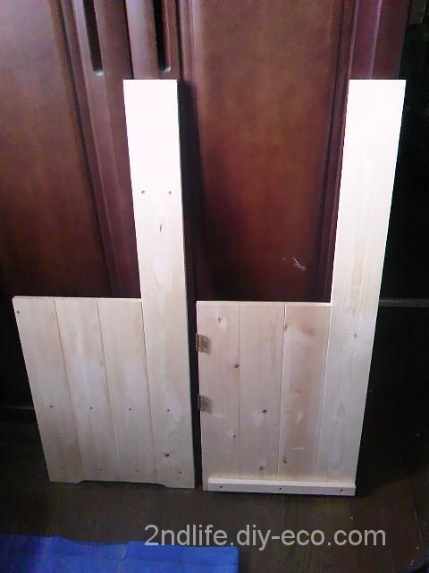 初孫のためにままごとキッチンをDIYで自作 (その2) 背板・側板製作編