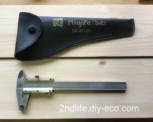 部材の厚さを測るのに便利な道具ノギスはDIYでも活躍