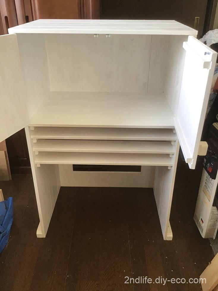 レンジ台の棚