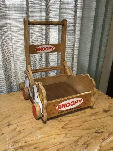 スヌーピーの積み木入れ台車をDIYで修理