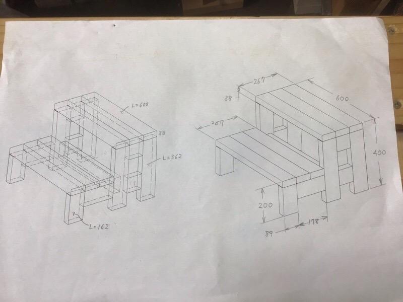 階段の図面